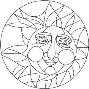 Stained Glass Patterns Sun Moon And Stained Glass On
