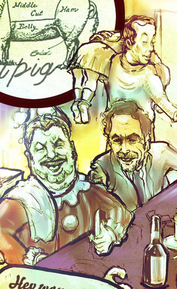Art name - The Lucifer Supper John Wayne Gacy , Ted Bundy , Isei Sagawa