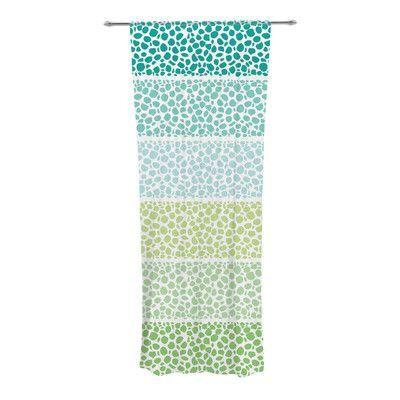 KESS InHouse Zen Pebbles Curtain Panels