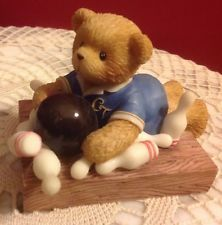 "Cherished Teddies Bryce Sports & Hobbies Collection ""I Scored A Strike ..Met You"