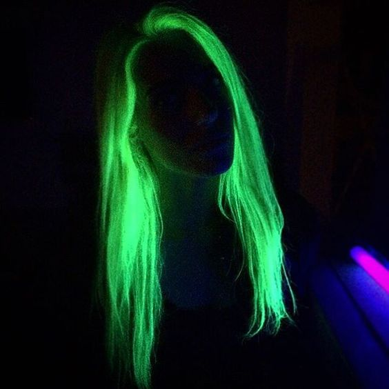 Lot 2 Splat Temporary Hair Dye Glow In The Dark Galactic Green