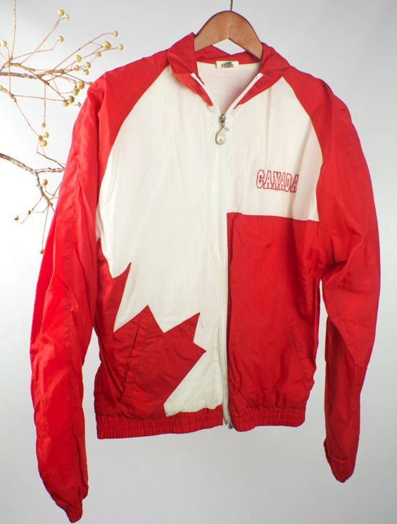 Vintage Windbreaker Jacket // Canadian Maple by AutumnHouseVintage