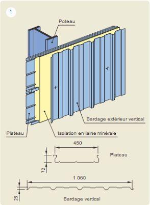 les bardages mtalliques genie civilcharpentesassemblagescours batimentplan coffrage - Cour En Beton Color