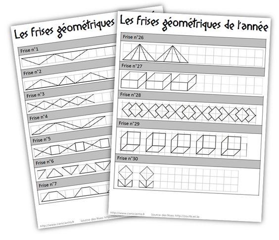 Cycle 3 • Mathématiques • Frises géométriques ~