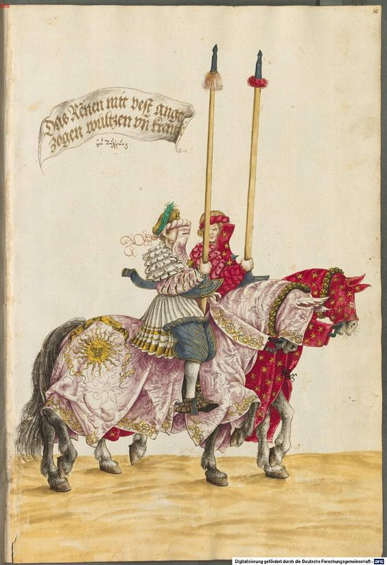BSB Cod. icon. 403 Hans Burgkmair Tournament Book 1540
