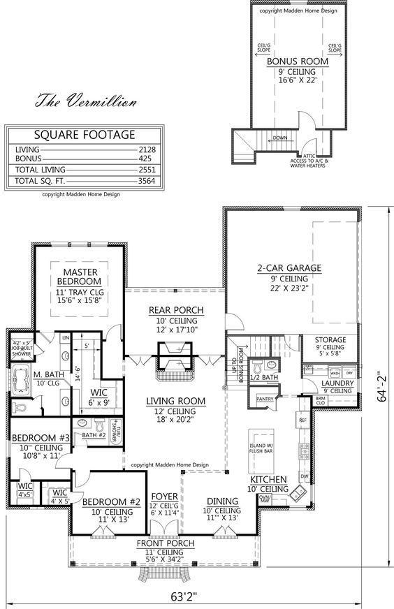 Acadian Style House Plan The Vermillion Madden Home Design 4 Bedrooms 3 Baths 2128 Squar Acadian House Plans Madden Home Design French Country House Plans