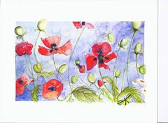 Red Poppies Giclee - Artist Laurie McBride
