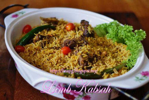Resepi 2in1 Nasi Arab Kabsah Dan Kambing Mudah Dan Sedap Resep Makanan Makanan Arab Resep