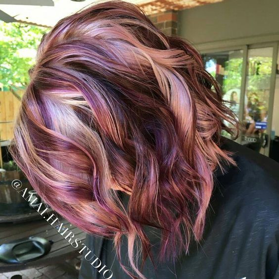 Cherry Vanilla Color Hair With Highlights Dark Brown Hairs