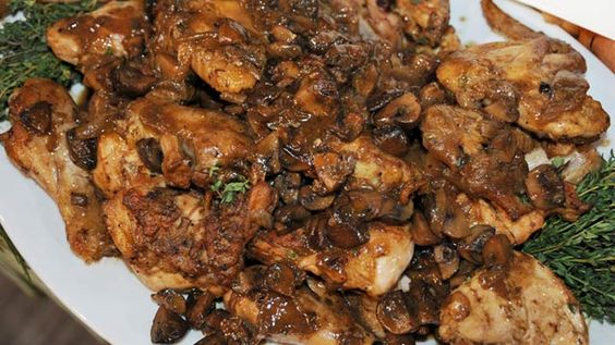 Rocco DiSpirito's Chicken Marsala and Mushrooms. I've made this multiple times; this is a new family favorite. -RS