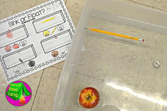 Sink or Float Activities for Kindergarten!  These recording sheets are simple enough for students to complete.....even at the beginning of the year!