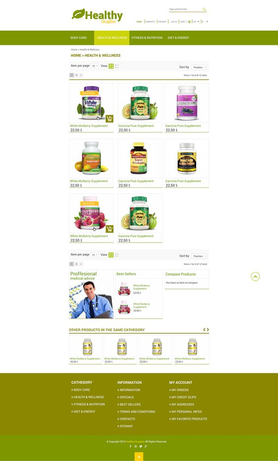 Healthy DrugStore on Behance