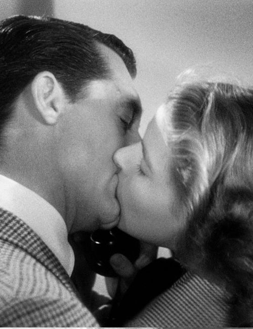 Cary Grant & Ingrid Bergman in Notorious: