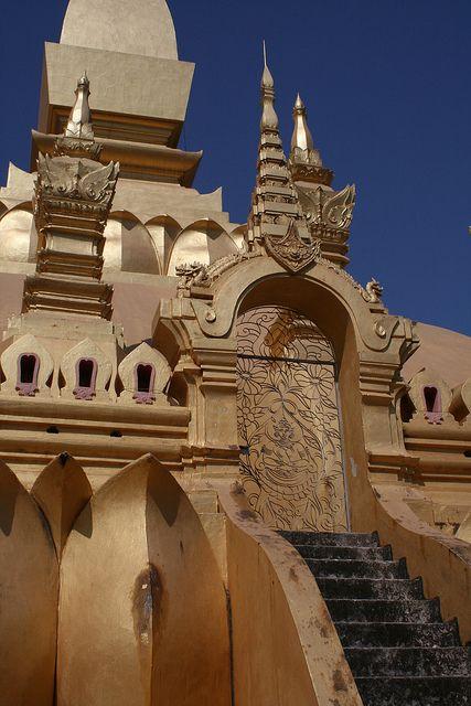 Vientiane Laos - Wat Pha That Luang Temple
