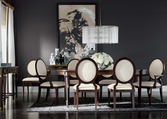 Sophistication Reigns Dining Room | Ethan Allen | Modern interiors ...