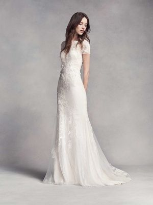 Style VW351312 | Photography: Courtesy of Vera Wang. Read More:  http://www.insideweddings.com/news/fashion/classic-silhouettes-from-white-by-vera-wang-fall-2016/2964/