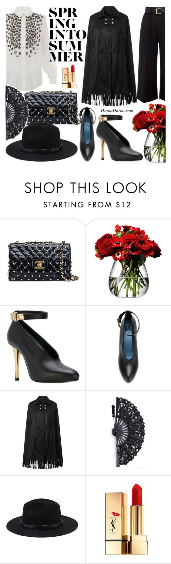 """""""Summer in Spain"""" by dianadaron ❤ liked on Polyvore featuring Chanel, LSA International, Lanvin, Forever 21 and Yves Saint Laurent"""
