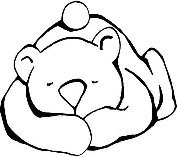Sleeping Bear For Hibernating Craft Hayvan Boyama Sayfalari