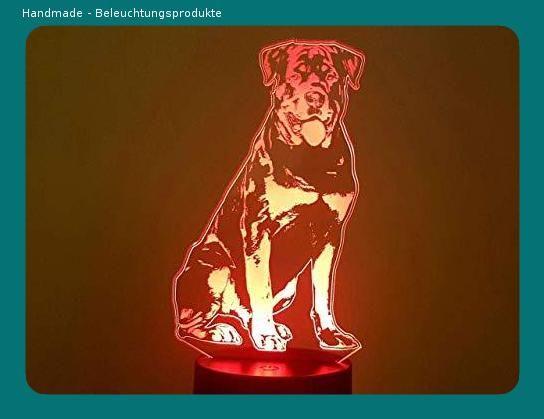 Rottweiler 3d Lampe Led