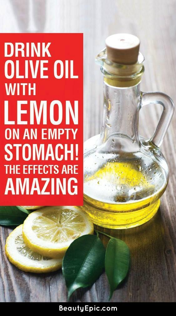 Drink Olive Oil With Lemon On An Empty Stomach The