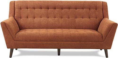 New Homelegance Erath 81 Fabric Sofa Orange Online In 2020 Living Room Orange Fabric Sofa Living Room Furniture