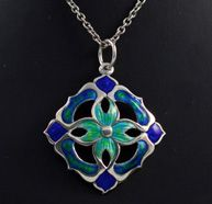 Silver and enamel Arts and Crafts. Dated 1909.