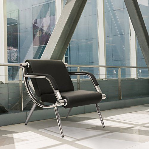 Kinbor Furniture Black Leather Executive Side Reception Chair