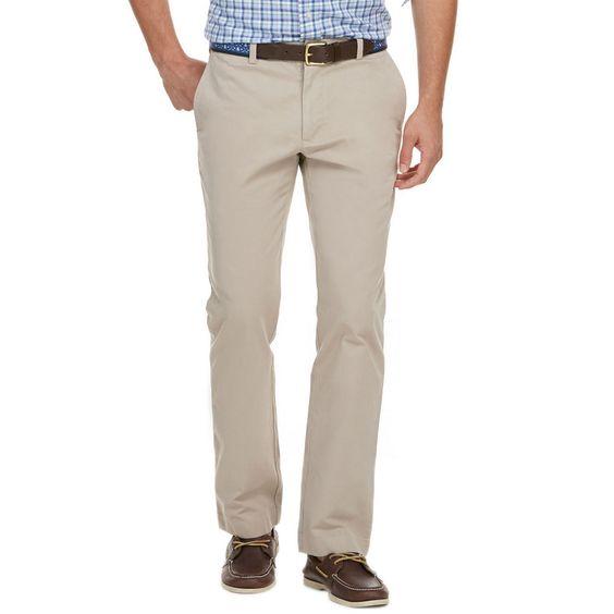 Vineyard Vines Garment-Dyed Slim-Fit Breaker Pants in Khaki