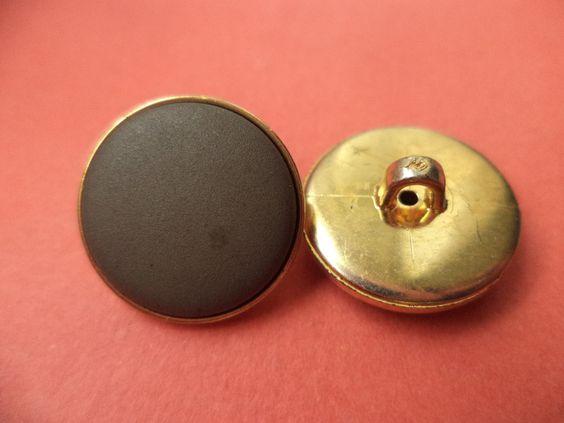 Kunststoffknöpfe - 10 dunkelgraue Knöpfe 17mm (6305) - ein Designerstück von…