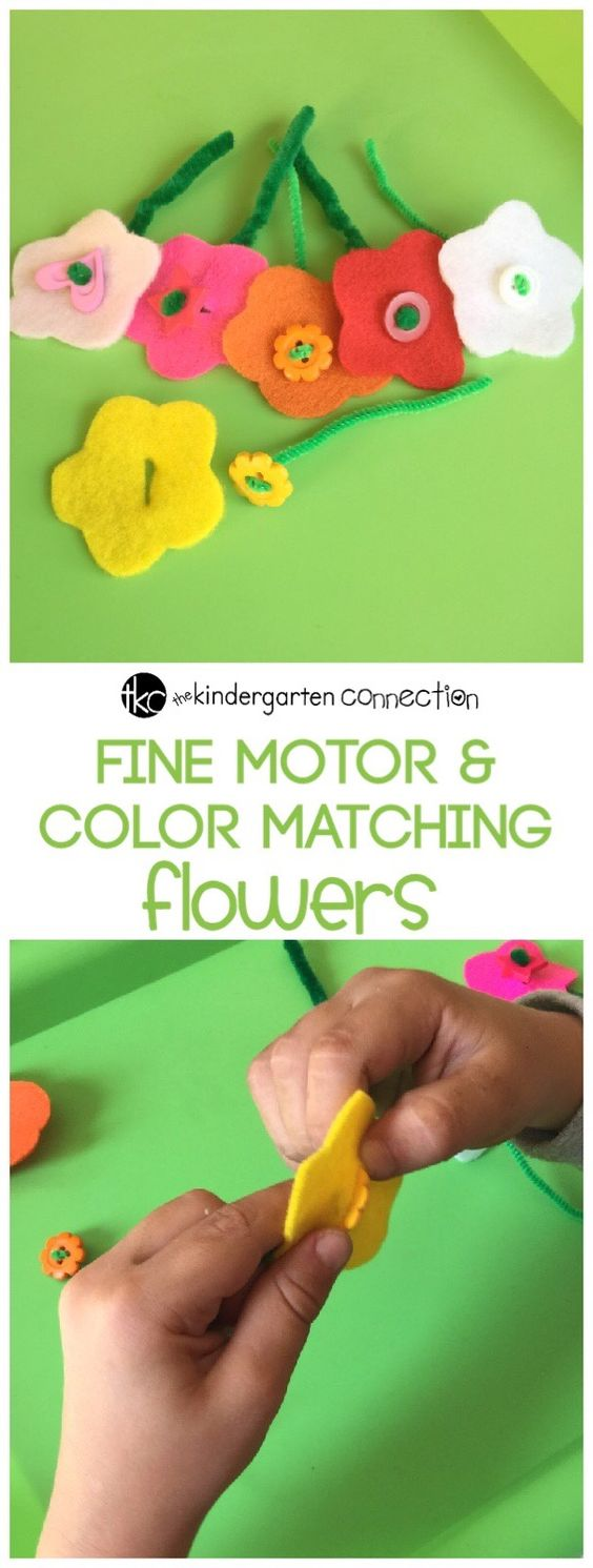 Fine motor skills are important to develop in early childhood. Work on strengthening those fine motor muscles with this fun color matching activity!: