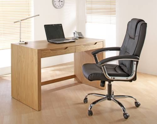 Alphason Butler Oak Home Office Desk