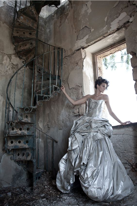 Love high fashion shoots in interesting abandoned spaces