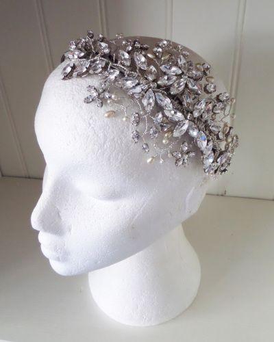 Jo Barnes Charlie Bridal Floral Headband - www.jobarnesvintage.com