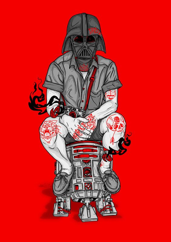 UBER COOL - PHFAT / DARTH VADER POSTER by Michael Dos Ramos, via Behance