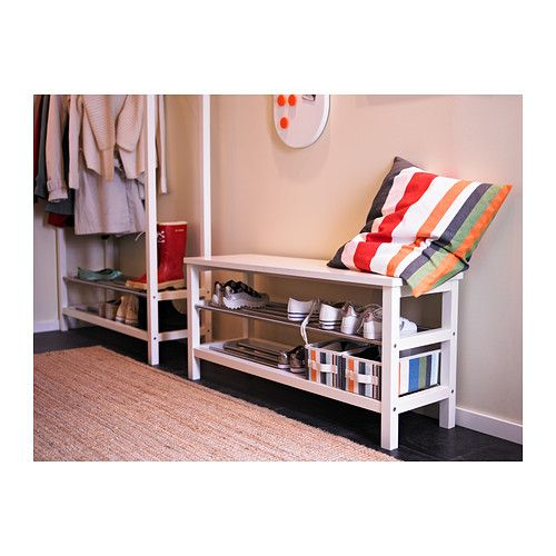 Bench with shoe storage shoe storage and ikea on pinterest - Garderobenbank ikea ...