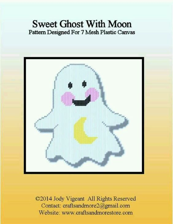 SWEET GHOST WITH MOON by JODY VIGEANT -- WALL DECOR 1/2