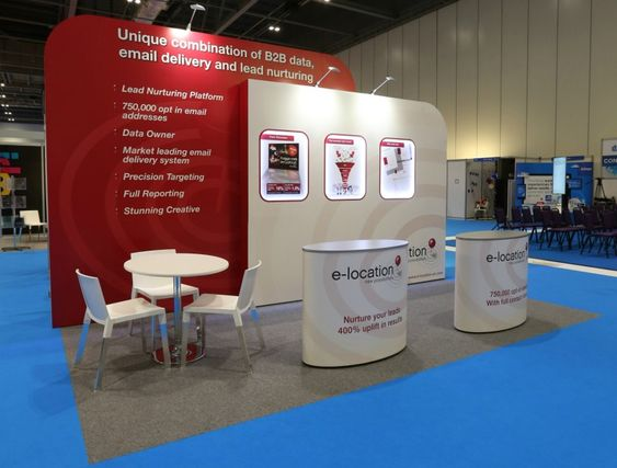 5m x 3m curved graphic clad exhibition stand exhibitions for Kitchen ideas 5m x 3m