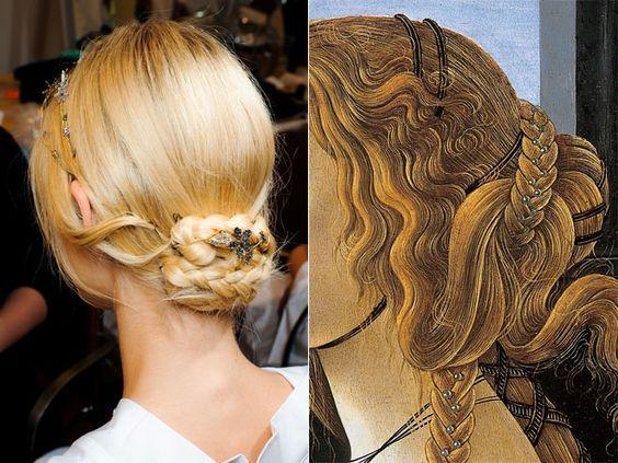 ..: Hair Renaissance, Pretty Hairstyles, Beautiful Hairstyles, Hair Styles, Hair Bun, Renaissance Inspiration, Renaissance Updo, Couture Fall