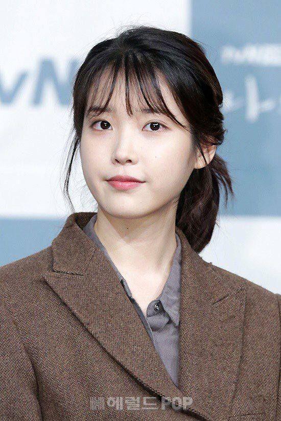 Iu Lee Ji Eun Hairstyles With Bangs Kpop Girls Celebrities Female