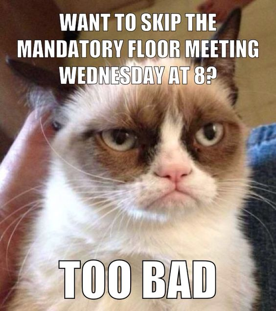 Mandatory Meeting Sign