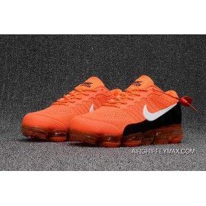 2018 Nike Air Vapormax Flyknit Bright Orange Black | Cipők