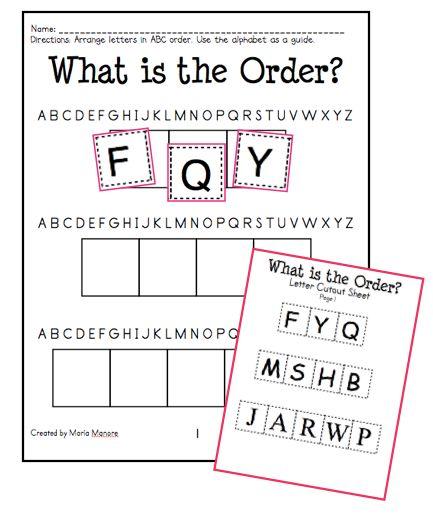Introducing ABC Order to Littles Teacher stuff Pinterest - order sheet template