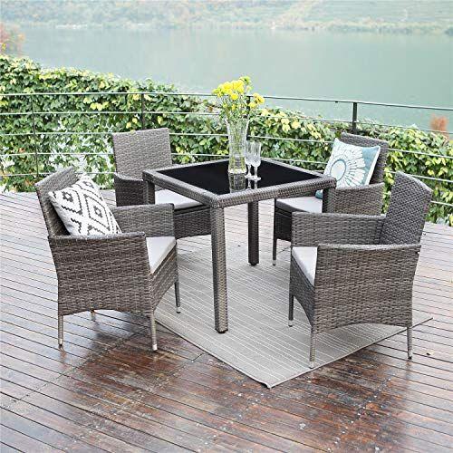 Wisteria Lane 5pcs Patio Dining Table Set Outdoor Conversation