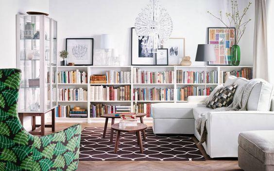 : Guest Room, Living Rooms, White Bookshelves, Ikea Billy Bookcase, Livingroom, Billy Bookcases