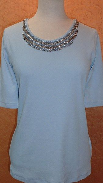 Ladies Blue top from the Basler Popup range