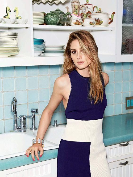 Top, skirt, Calvin Klein Collection. Bracelet, Lele Sadoughi
