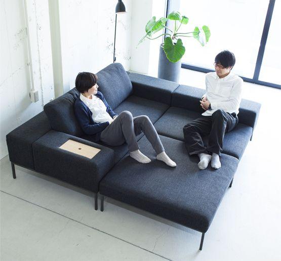 暮らしに合わせた組み合わせが可能なソファ デザイナーズ ソファ インテリア ソファー リビング ベッド