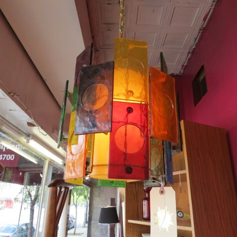 Mid century multi colored lucite hanging lamp 295 chandeliers mid century multi colored lucite hanging lamp 295 chandeliers pinterest mid century and chandeliers mozeypictures Image collections
