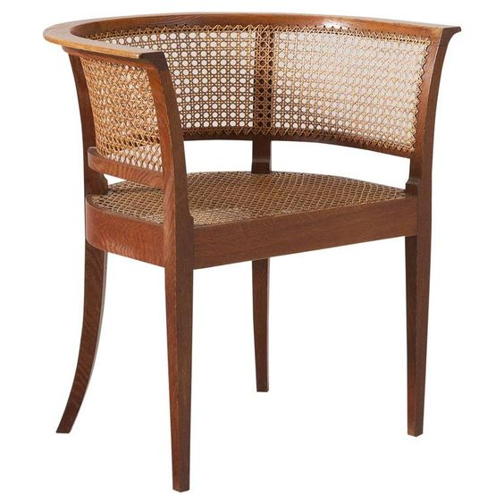 Kaare Klint Early 'Faaborg Chair' in Oak for Rud Rasmussen Produced 1930  1