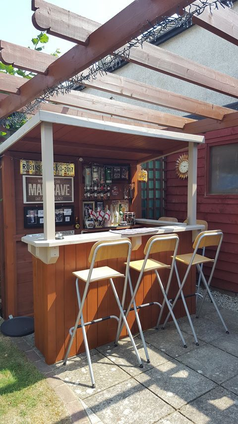 Home Outdoor Garden Bar The Man Thing In 2020 Backyard Bar Garden Bar Outdoor Wooden Bar